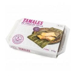 Tamales de tinga de pollo La Reina de las Tortillas