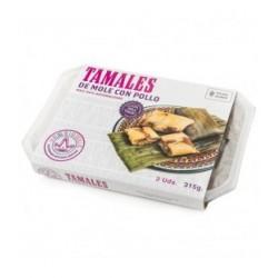 Tamales de mole con pollo La Reina de las Tortillas
