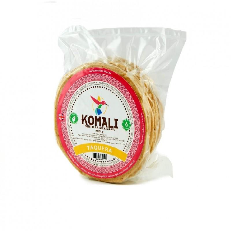 Tortillas de maíz de 12cm Komali