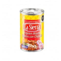 Frijol bayo refrito con chipotle 440g La Sierra