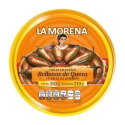 Jalapeños rellenos de queso La Morena 350gr