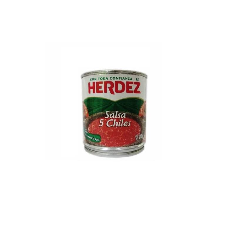 Salsa cinco chiles Herdez 210gr
