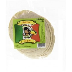 Tortilla maíz blanca 14cm...