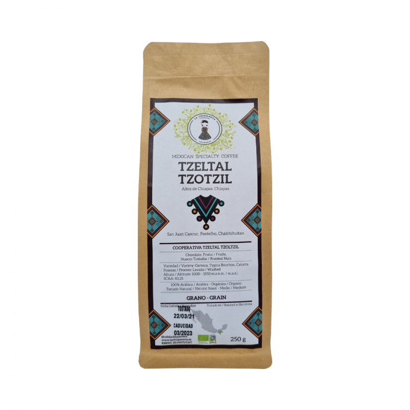 Café en grano 250g, La Chiapaneca
