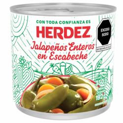 Chiles Jalapeños enteros  Herdez de 350gr