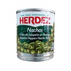 Chiles jalapeños nachos HERDEZ 220gr
